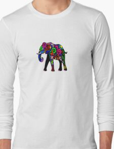 Psychedelic Elephant Long Sleeve T-Shirt