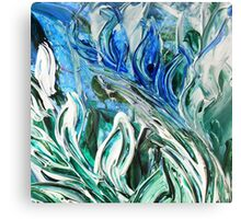 Abstract Floral Sky Reflection Canvas Print