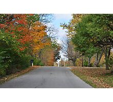 Country Road in October Photographic Print