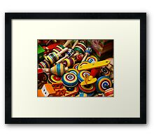 Mexican Wooden Toys Framed Print