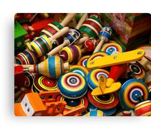 Mexican Wooden Toys Canvas Print