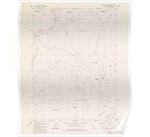 USGS Topo Map California Broken Rib Mtn 302497 1982 24000 Poster