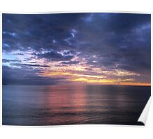 Sunset in Puerto Vallarta at the Pacific Ocean Poster