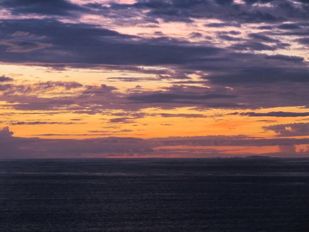 Orange sky in the evening by PtoVallartaMex