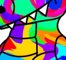 Colorful Crocodile Sticker
