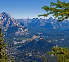 Canada. Banff National Park. View from Sulphur Mountain. by vadim19