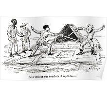 Achille Sirouy Mark Twain Les Aventures de Huck Huckleberry Finn illustration p155 Poster