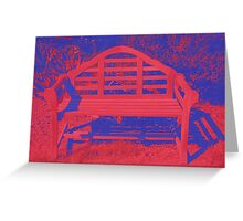 A colorful place to rest Greeting Card