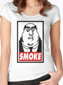 SMOKE! Women's Fitted Scoop T-Shirt