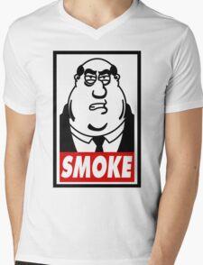 SMOKE! Mens V-Neck T-Shirt
