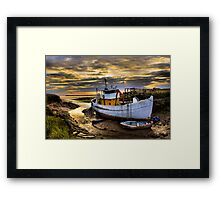 South Ferriby Boat Framed Print