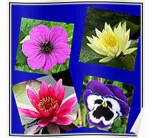 Essex Flowers Collage Poster