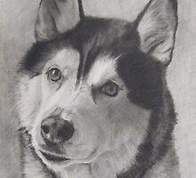 Atlas - part Siberian dog by P. Leslie Aldridge