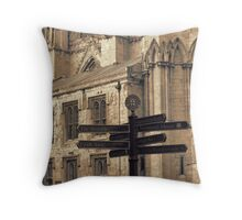 York Minster Signs Throw Pillow