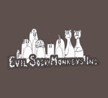 Evil Sock Monkeys Crew Baby Tee