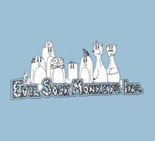Evil Sock Monkeys Crew Kids Tee