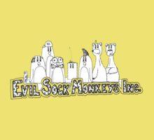 Evil Sock Monkeys Crew One Piece - Short Sleeve