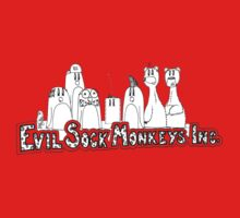 Evil Sock Monkeys Crew Baby Tee