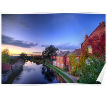 Loughborough Canal Sunset  Poster