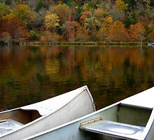 Canoes At Beavers Bend by Carolyn  Fletcher