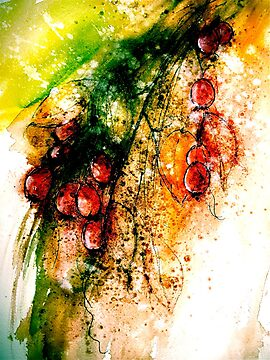 Autumn Harvest...Chinese Brush Painting. by © Janis Zroback