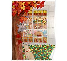 Thanksgiving Family Meal Scene Poster