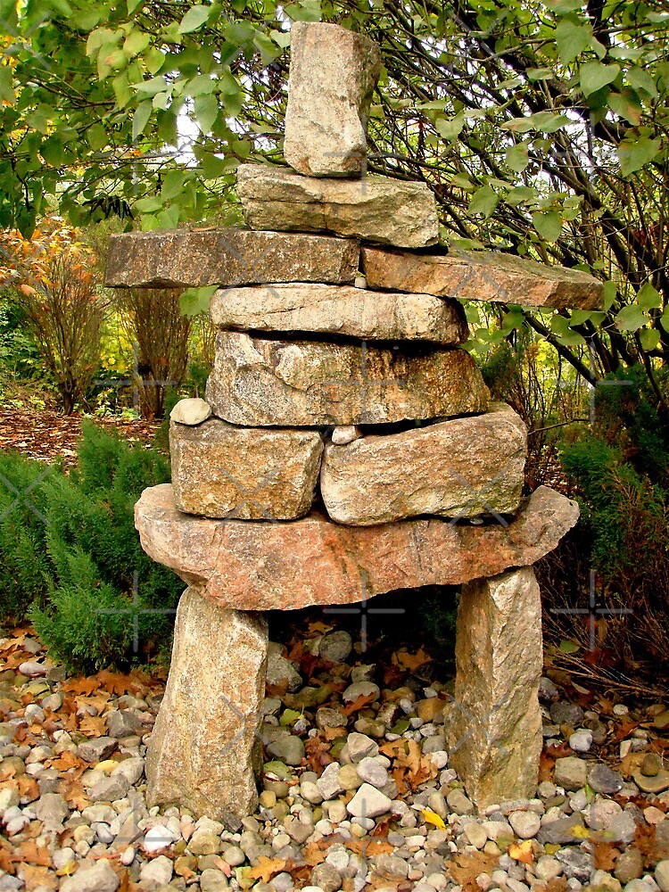 Inuksuk on the  grounds of the Governer General's property by Shulie1