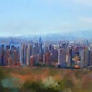 Benidorm Skyline by Michael Greenaway