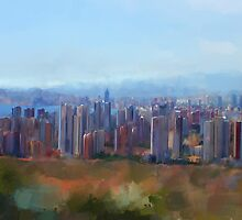 Benidorm Skyline by Michael Greenaway