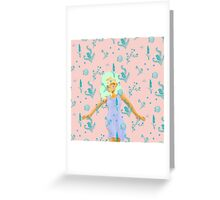 Design Based in Reality Pink Greeting Card