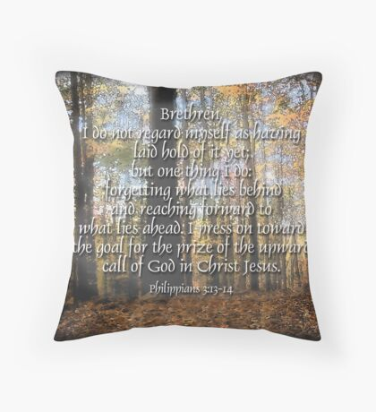 Pressing on (for Annabella) Throw Pillow