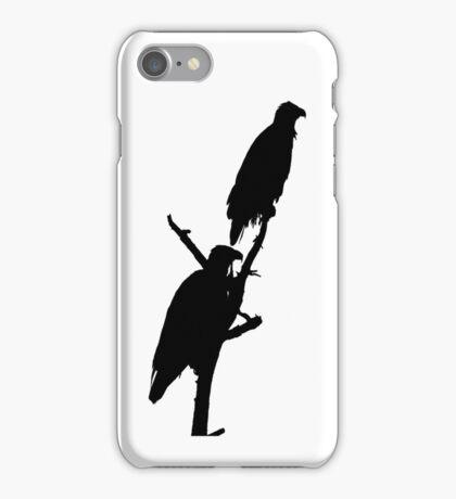 perched eagle pair i phone iPhone Case/Skin