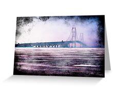 Ice under the Mackinac Bridge Greeting Card