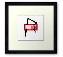 BBHMM $$ Rihanna Badgalriri R8 Merch Framed Print