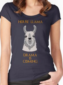 House Llama Women's Fitted Scoop T-Shirt
