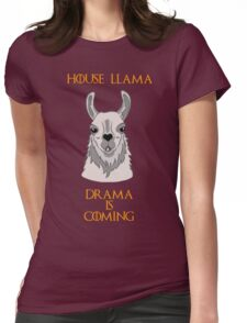 House Llama Womens Fitted T-Shirt