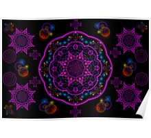 Eight Pointed Stars Poster
