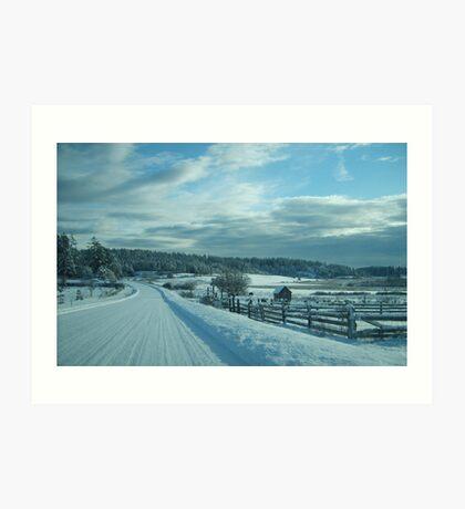 snowscape 4 Art Print