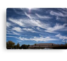 Sunday in Autumn, Clouds Painted Canvas Print