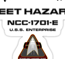 Property of Hazard Team Enterprise-E Hull Markings Version Sticker