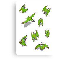 Tiny Pterosaur Bunch (Nemicolopterus) Canvas Print