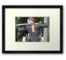 Korean sword dancer Framed Print