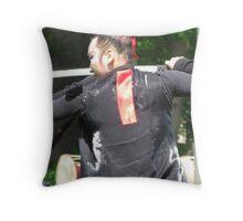 Korean sword dancer Throw Pillow