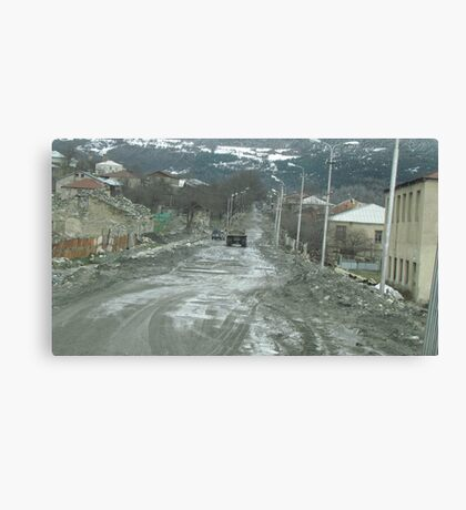 Streetscape, Mestia, Georgia Canvas Print
