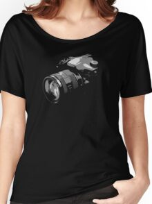 Photographer's camera photography Women's Relaxed Fit T-Shirt
