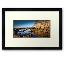 Reflections Bar Beach Cliff Framed Print