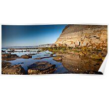 Reflections Bar Beach Cliff Poster