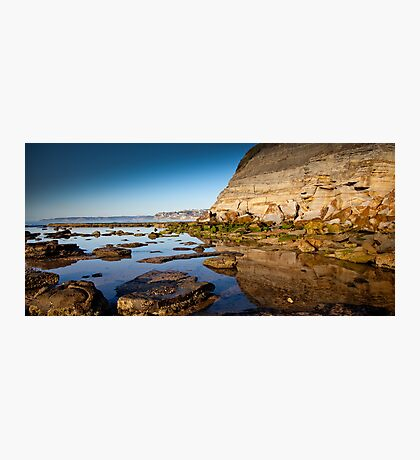 Reflections Bar Beach Cliff Photographic Print