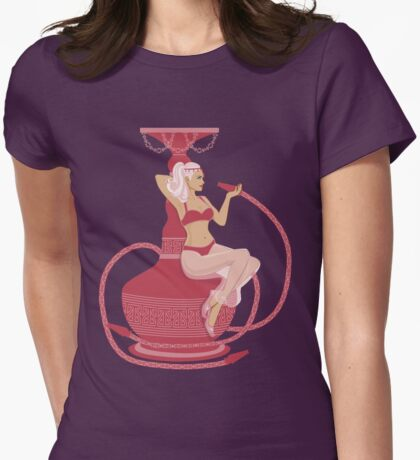 Hookah Genie Womens Fitted T-Shirt
