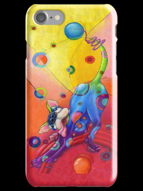 Topsy Turvy Trip I phone case, by Alma Lee by Alma Lee
